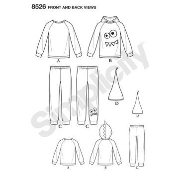 simplicity-kids-loungewear-pattern-8526-front-back-view