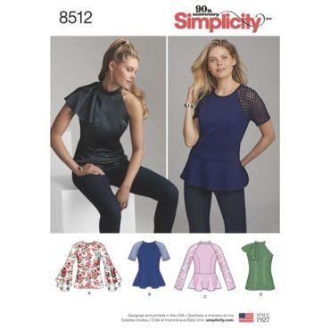 simplicity-peplum-top-pattern-8512-envelope-front