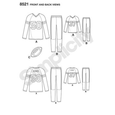 simplicity-sport-pjs-pattern-8521-front-back-view