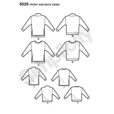 simplicity-toaster-sweater-pattern-8529-front-back-view