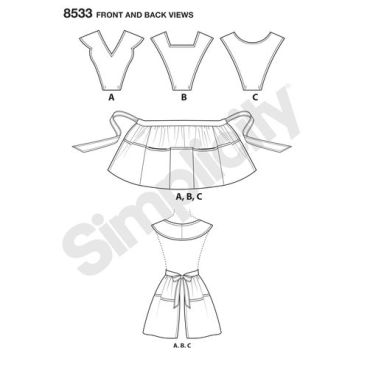 simplicity-vintage-apron-pattern-8533-front-back-view