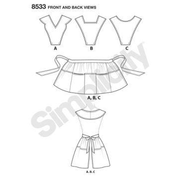 simplicity-vintage-apron-pattern-8533-front-back-view
