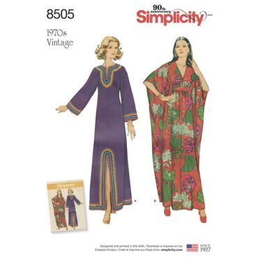 simplicity-vintage-caftan-pattern-8505-envelope-front