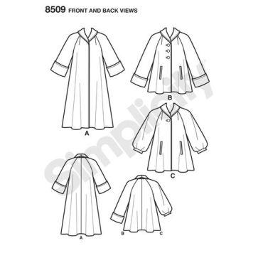 simplicity-vintage-coat-pattern-8509-front-back-view