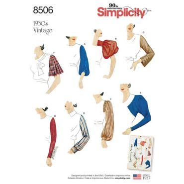 simplicity-vintage-sleeves-pattern-8506-envelope-front