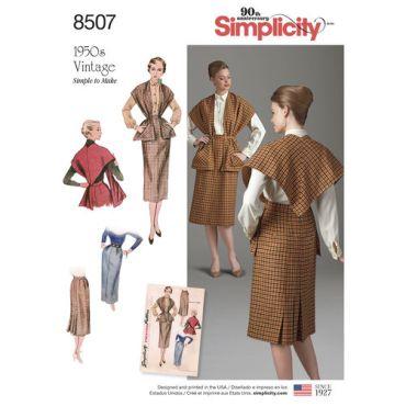simplicity-vintage-suit-skirt-stole-pattern-8507-envelope-front