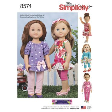 simplicity-14-inch-doll-clothes-pattern-8574-envelope-front-view
