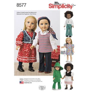 simplicity-1970s-doll-clothes-pattern-8577-envelope-front