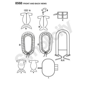 simplicity-baby-accessories-pattern-8568-front-back-view