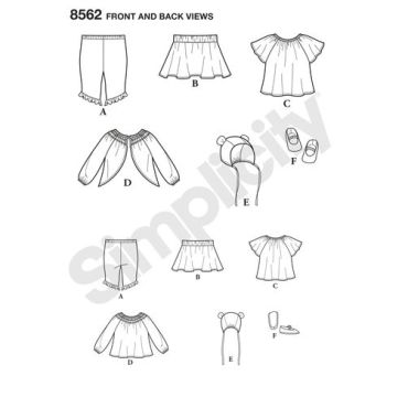 simplicity-baby-separates-pattern-8562-front-back-view