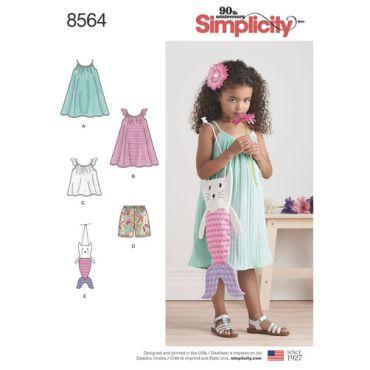 simplicity-child-dress-top-bag-pattern-8564-envelope-front