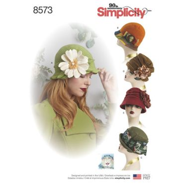 simplicity-flapper-hats-pattern-8573-envelope-front