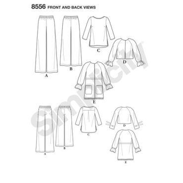 simplicity-fringe-jacket-pattern-8556-front-back-view