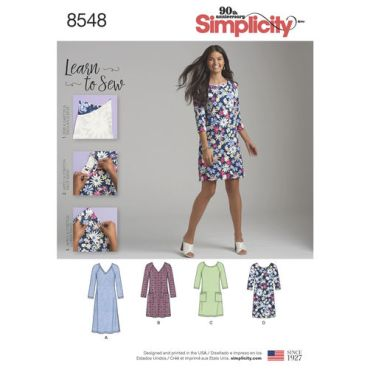 simplicity-knit-dress-learn-to-sew-pattern-8548-envelope-front
