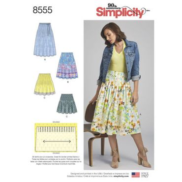 simplicity-pleated-skirt-pattern-8555-envelope-front