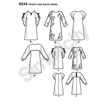 simplicity-sheath-dress-pattern-8544-front-back-view