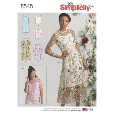 simplicity-sheer-dress-pattern-8545-envelope-front