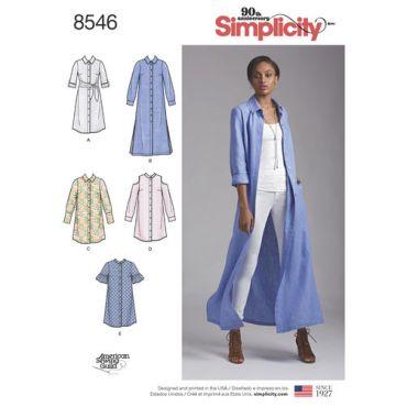 simplicity-shirt-dress-pattern-8546-envelope-front