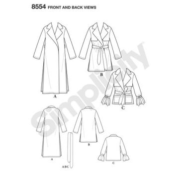 simplicity-soft-trench-pattern-8554-front-back-view