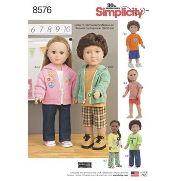 simplicity-unisex-doll-clothes-pattern-8576-envelope-front