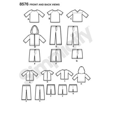 simplicity-unisex-doll-clothes-pattern-8576-front-back-view
