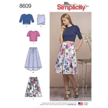 simplicity-2-piece-skirt-top-pattern-8609-envelope-front