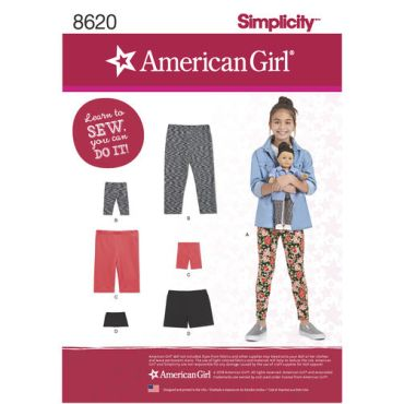simplicity-american-girl-leggings-pattern-8620-envelope-front