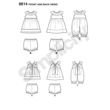 simplicity-baby-dress-pattern-8614-front-back-view