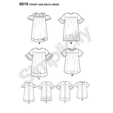simplicity-child-dress-pattern-8619-front-back-view