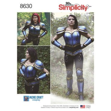 simplicity-cosplay-armor-miss-pattern-8630-envelope-front