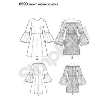 simplicity-cynthia-rowley-dress-pattern-8599-front-back-view