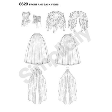 simplicity-firefly-costume-pattern-8629-front-back-view