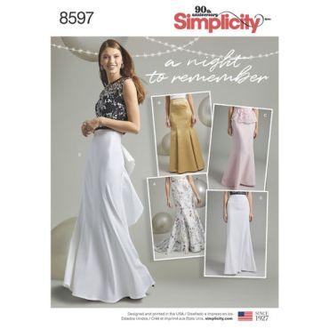 simplicity-mermaid-skirt-pattern-8597-envelope-front