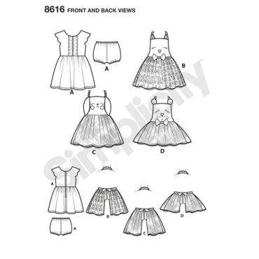 simplicity-ruby-jean-apron-dress-pattern-8616-front-back-view