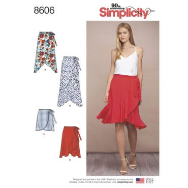 simplicity-ruffle-wrap-skirt-pattern-8606-envelope-front