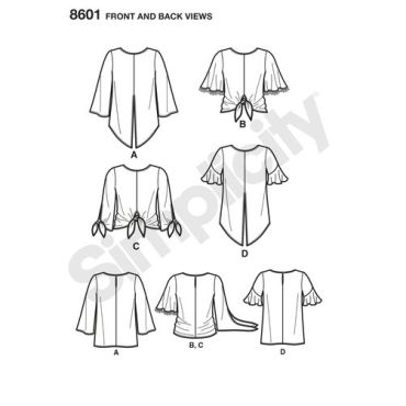simplicity-tie-front-top-pattern-8601-front-back-view