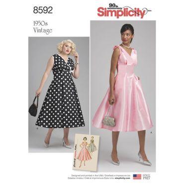 simplicity-vintage-dress-1950s-miss-plus-pattern-8592-envelope-front