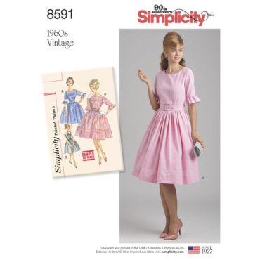 simplicity-vintage-dress-1960s-miss-pattern-8591-envelope-front
