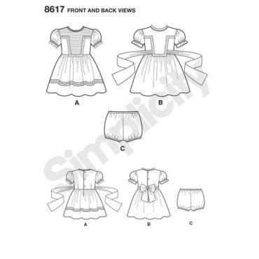 simplicity-vintage-toddler-pattern-8617-front-back-view