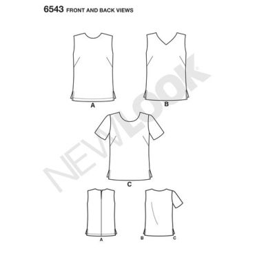 newlook-easy-sew-top-pattern-6543-front-back-view