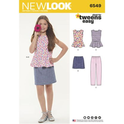 newlook-girls-peplum-2pc-dress-pattern-6549-envelope-front