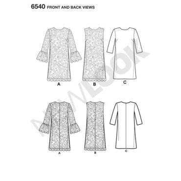 newlook-lace-dress-pattern-6540-front-back-view