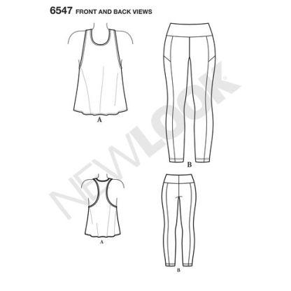 newlook-racerback-tank-leggings-pattern-6547-front-back-view