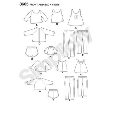 simplicity-american-girl-athleisure-pattern-8665-front-back-views
