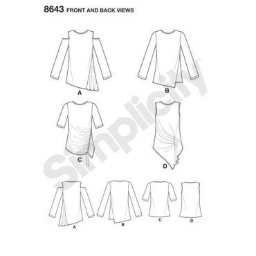 simplicity-asymmetrical-knit-top-pattern-8643-front-back-views