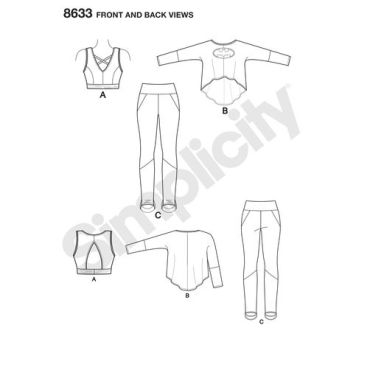 simplicity-batgirl-athleisure-pattern-8633-front-back-views