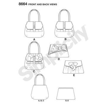 simplicity-clutch-purse-handbag-bag-vintage-charliesaunt-pattern-8664-front-back-views