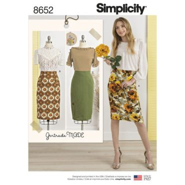simplicity-gertrude-made-pencil-skirt-pattern-8652-envelope-front