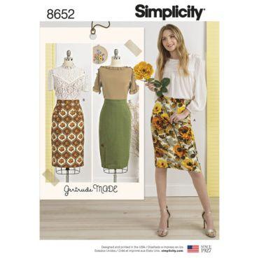 simplicity-gertrude-made-pencil-skirt-pattern-8652-envelope-front