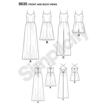 simplicity-jumpsuit-romper-pattern-8635-front-back-views